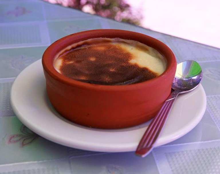 Baked Turkish rice pudding (firinda sütlaç)