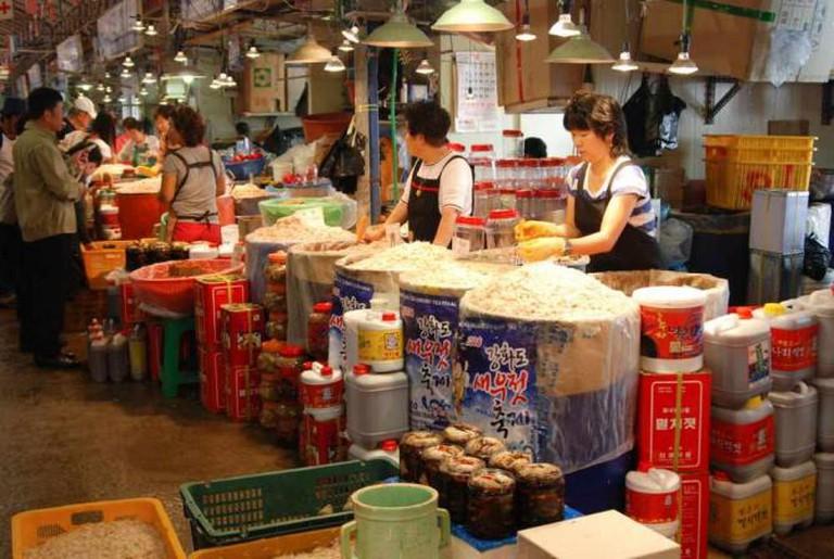 A Korean fish market