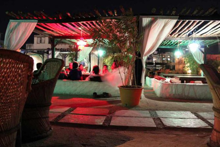 Koyla, rooftop restaurant and sheesha bar in the tourist area of Colaba, Mumbai