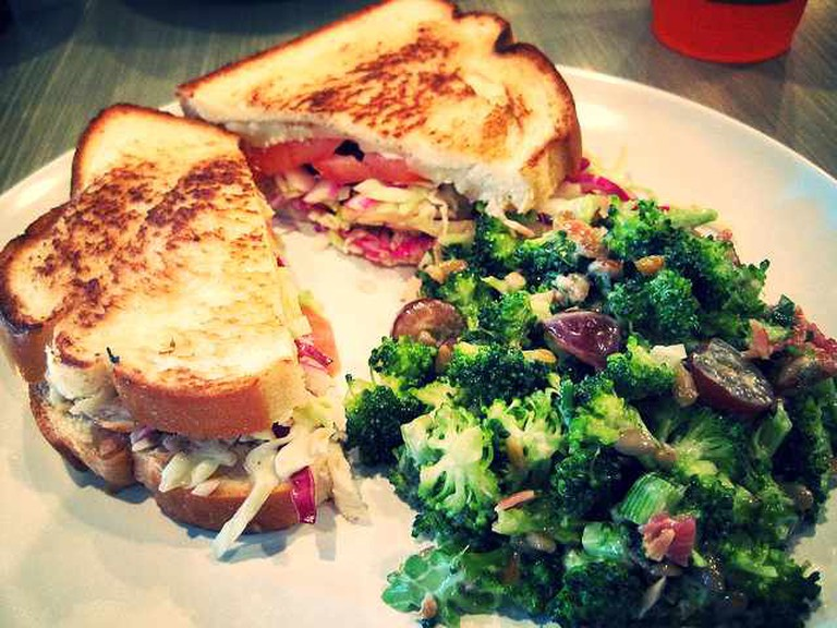 Turkey Crunch with Broccoli Salad at Urban Cookhouse