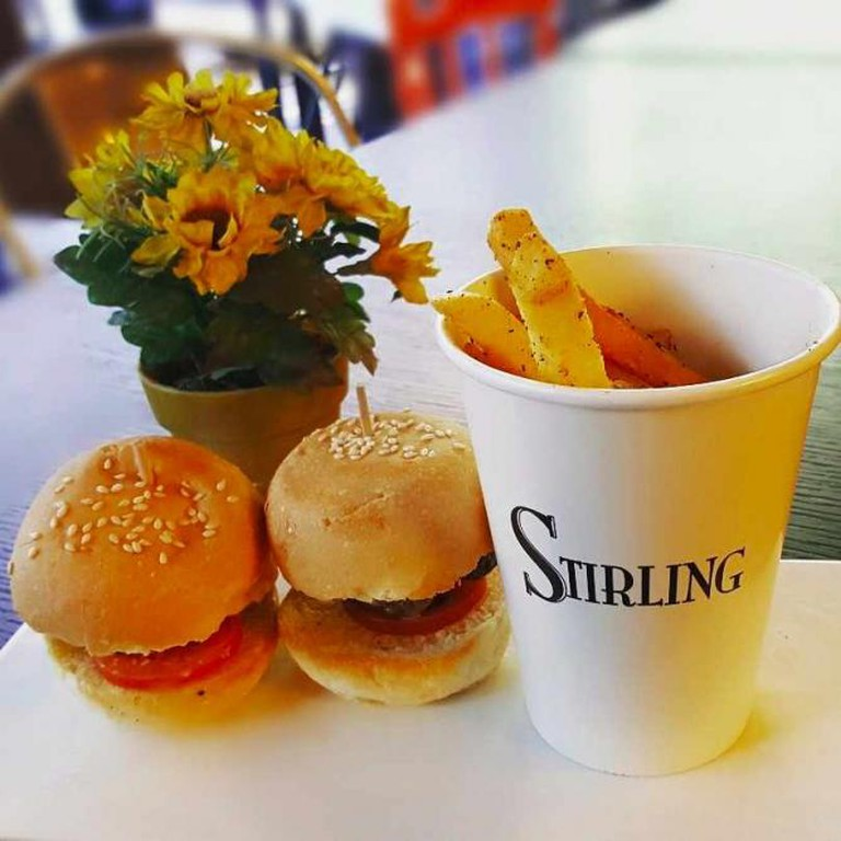 Sliders and fries at Stirling