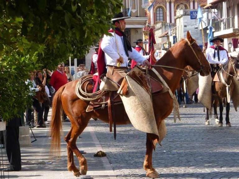 Traditional gaucho costume
