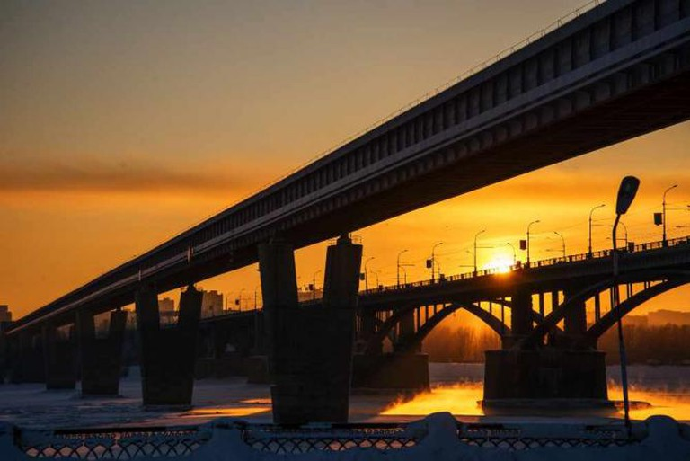 Novosibirsk by sunset