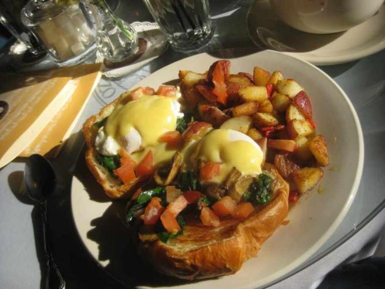 Eggs Florentine at Café Intermezzo