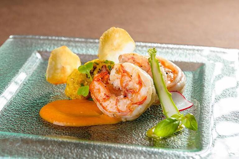 Seafood dish at Cedron