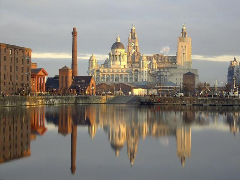 Liverpool - three graces from the docks