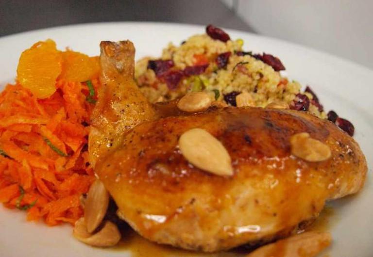 Chicken, quinoa and carrots