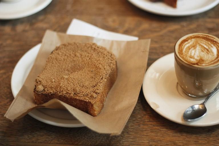 Coffee and cinnamon toast
