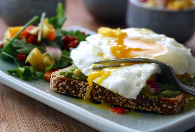 Eggs and salad