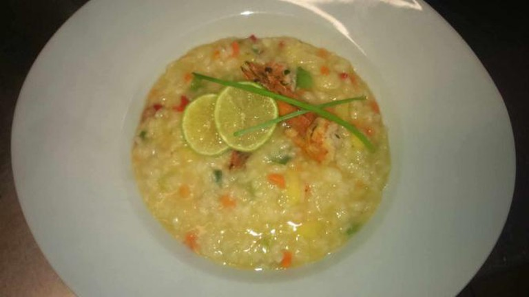 Risotto with mango