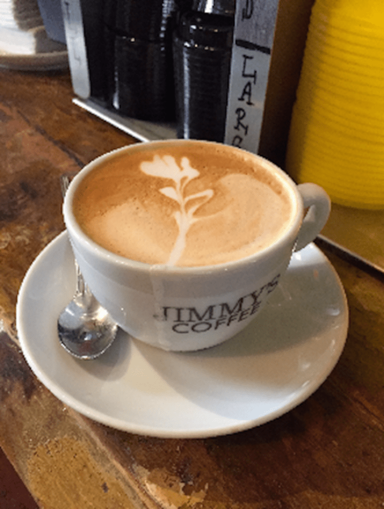 Cappuccino at Jimmy's Coffee