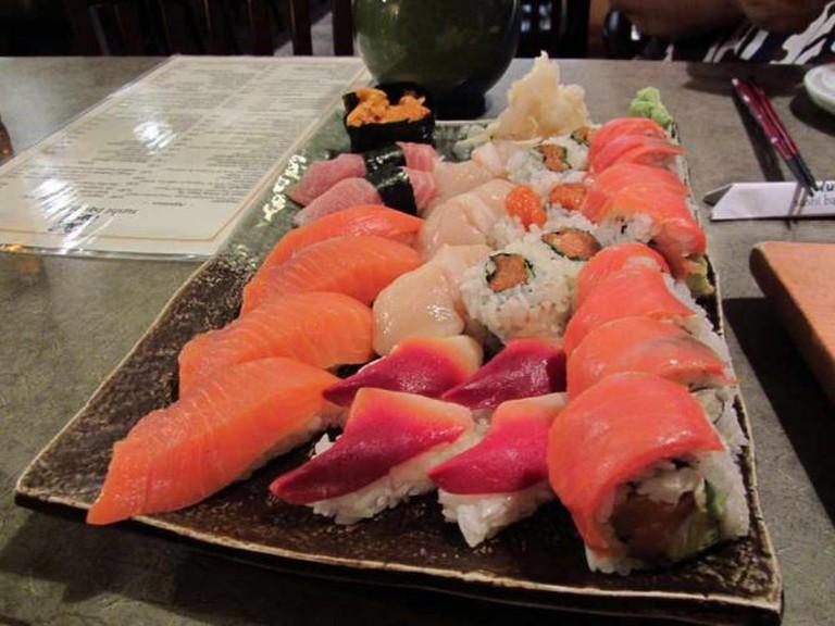 Assorted Sushi at Sushi Bar Zipang, Calgary