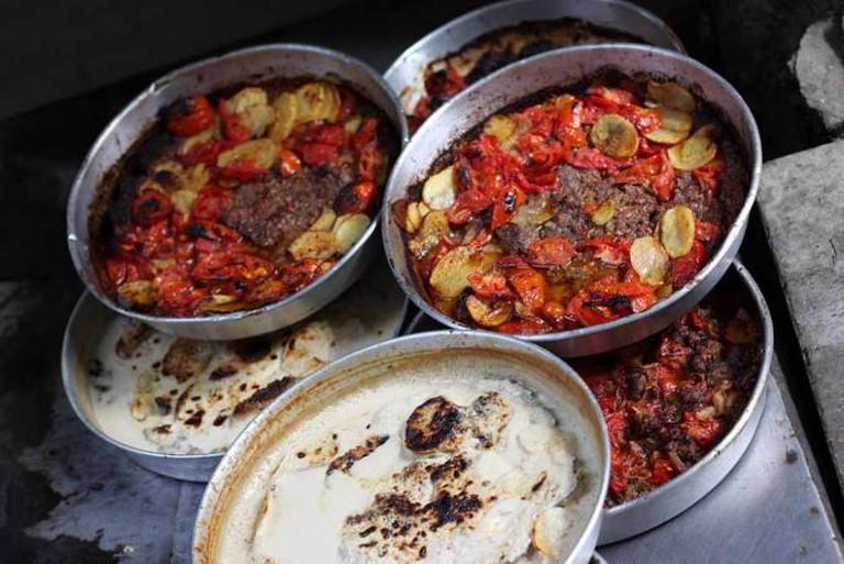 Downtown street food