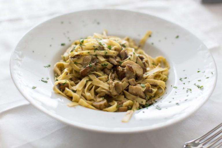 Pasta and Mushrooms