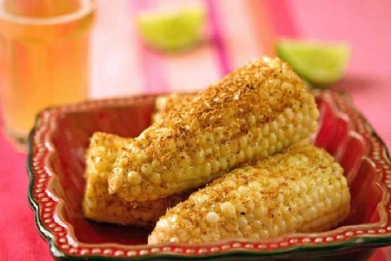 Elote with Mexican seasoning
