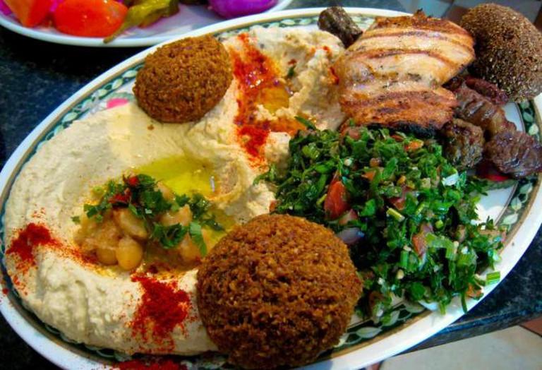 A Lebanese food platter