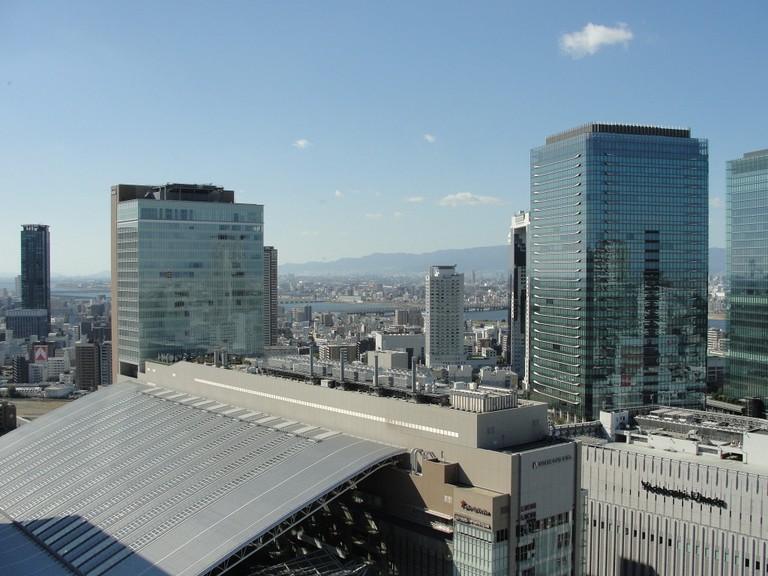 View of Osaka from Hankyu Building