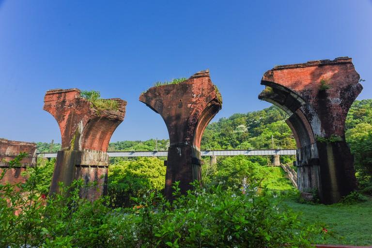 Lungteng Bridge in Miaoli, Taiwan