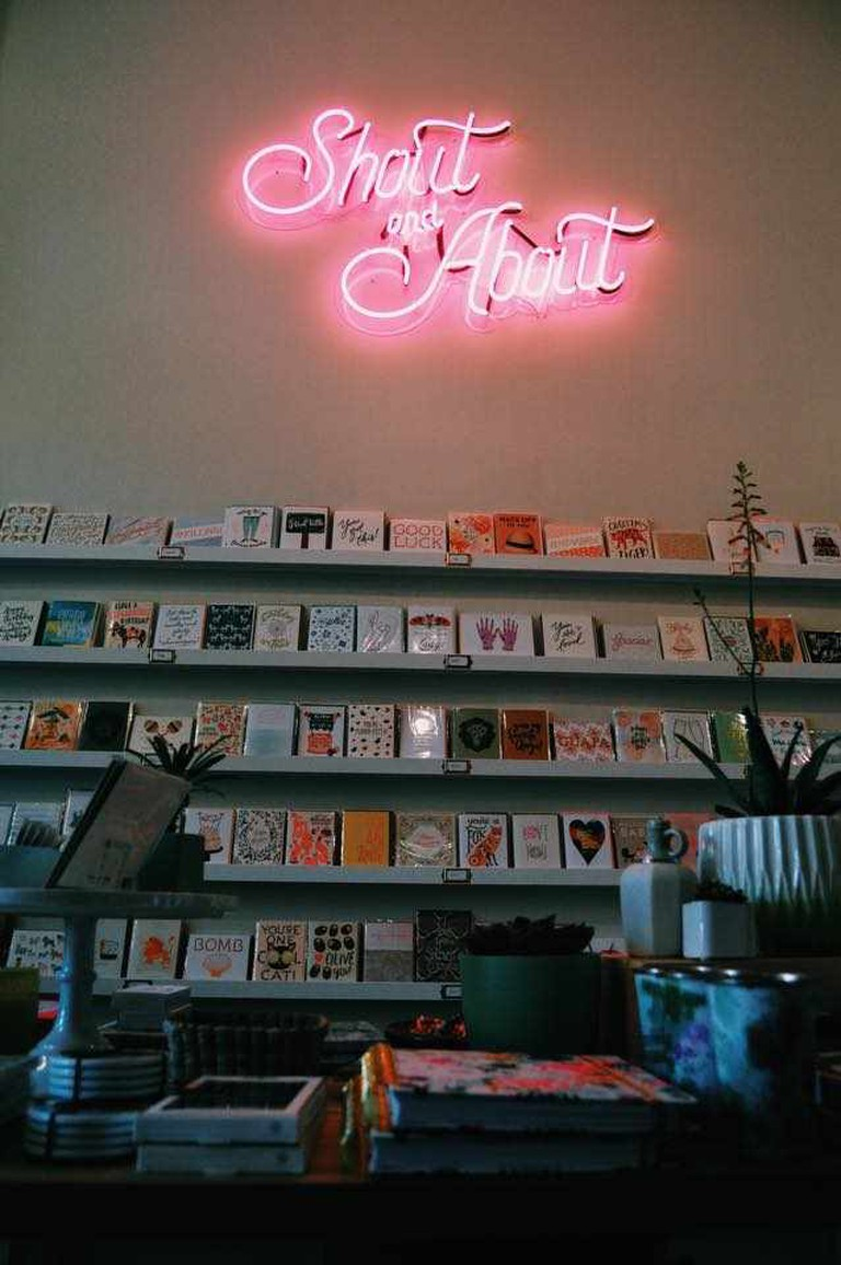 The wall of cards at Shout & About
