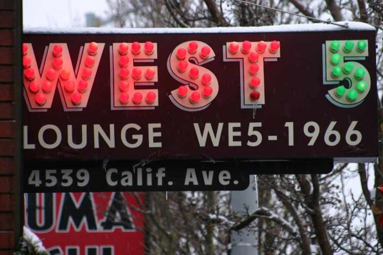West 5 Sign