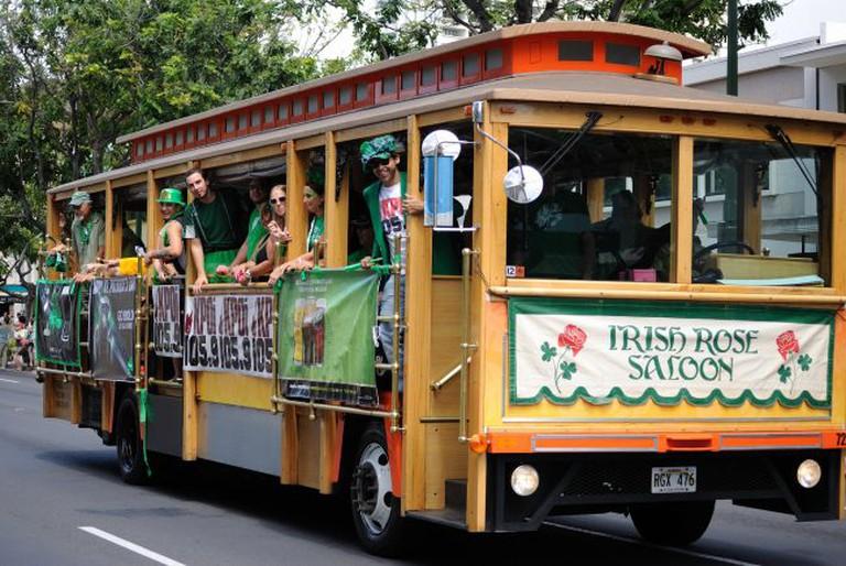 Irish Rose Saloon Trolley