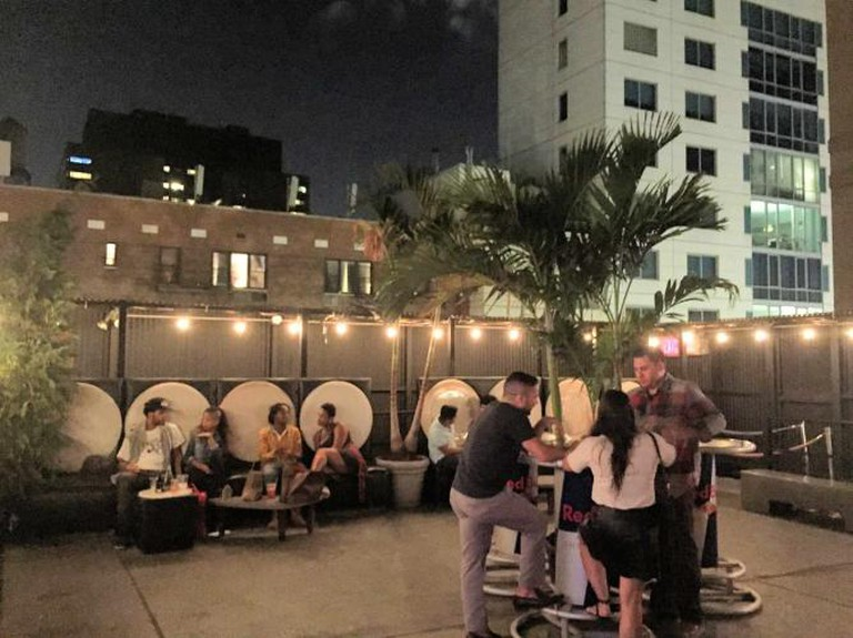 The Rooftop deck at Bar 13