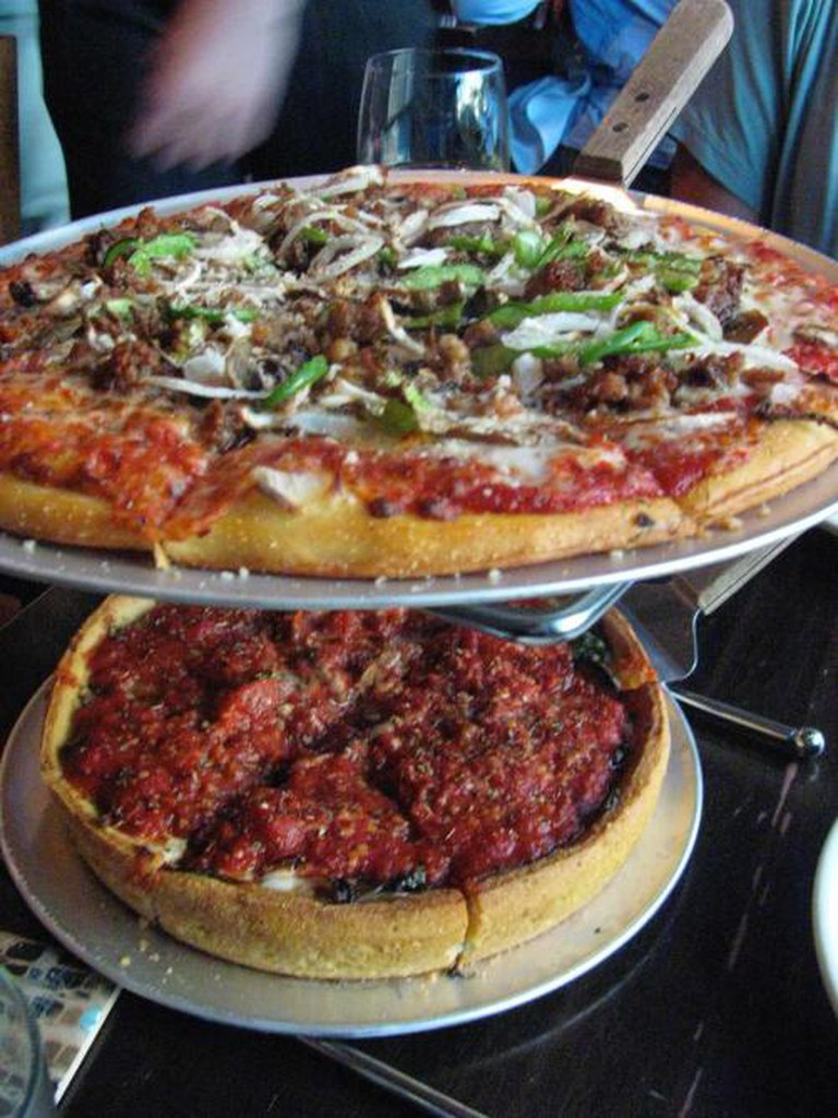 Double-decker at Little Star Pizza
