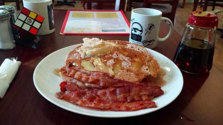 A sourced image: Apple Cinnamon Pancakes