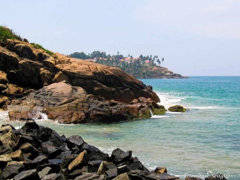 The coastline of Trivandrum