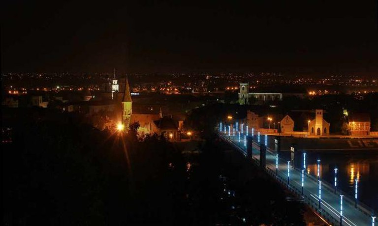 A view of Kaunas at night