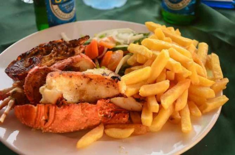 Seafood platter, Cape Coast, Ghana