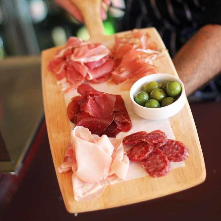 Salumeria 104 specializes in Italian dishes