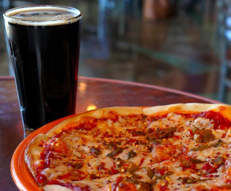A Creative Commons Image: Beer and Pizza