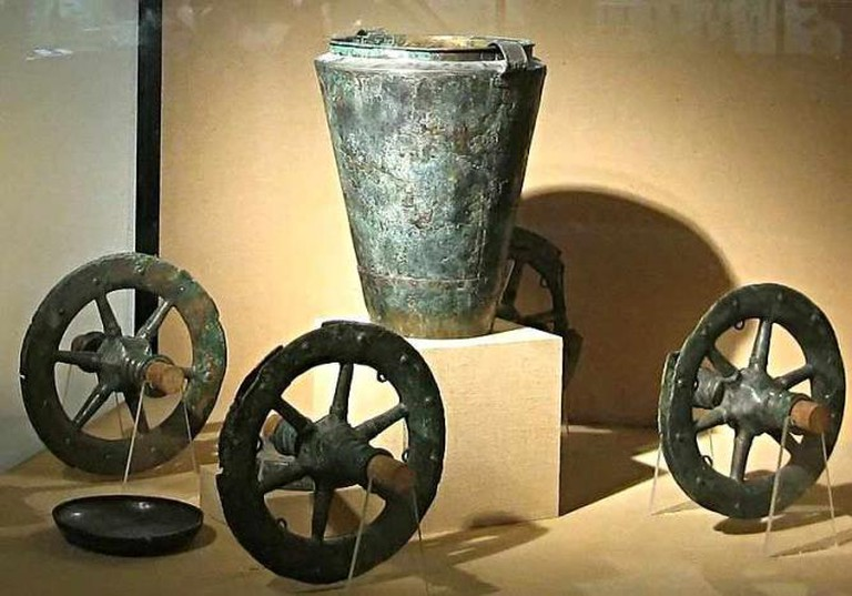 Bronze Chariot from Museum of Gallo-Roman Civilisation