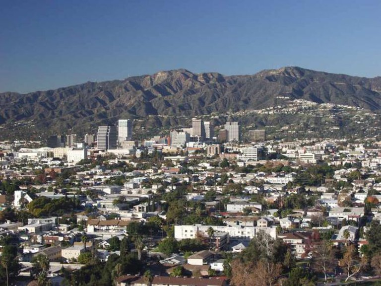 View of Glendale, CA from Forest Lawn Memorial Park