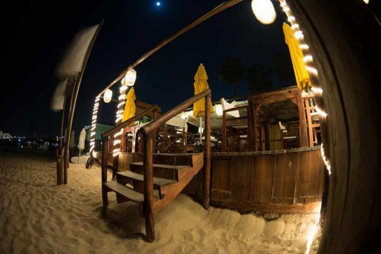 Beach bar in Cabo San Lucas