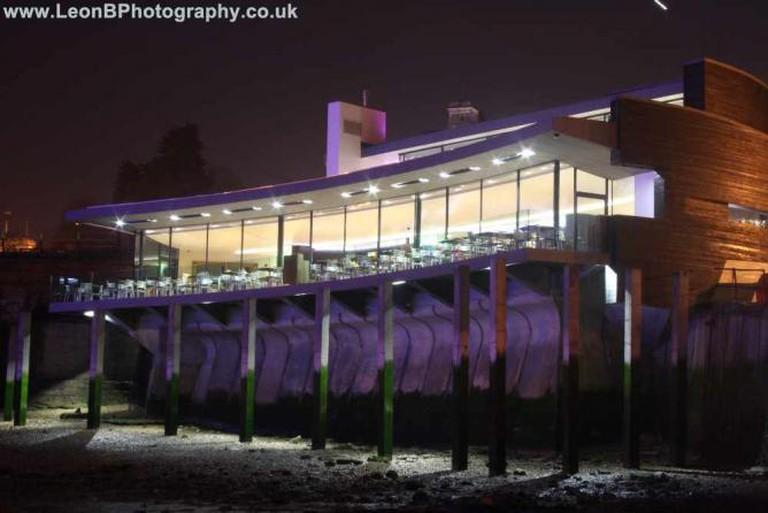 Rocksalt Restaurant at Night