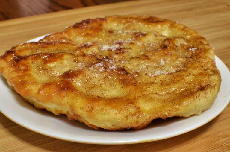 A scone, or traditional Indian fry bread