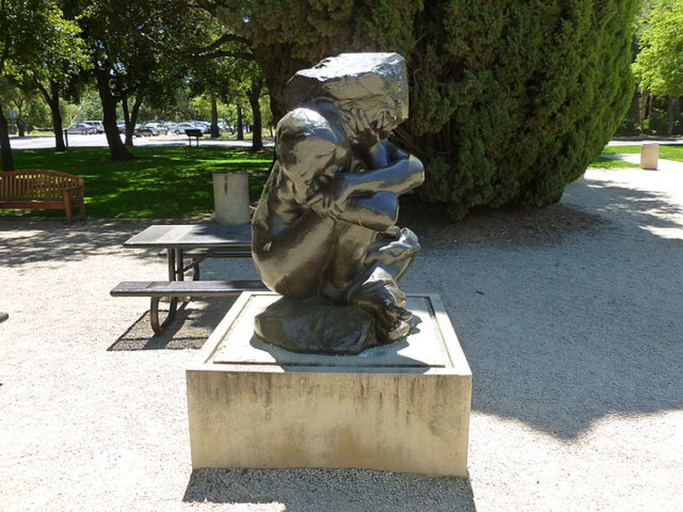 Fallen Caryatid with Stone