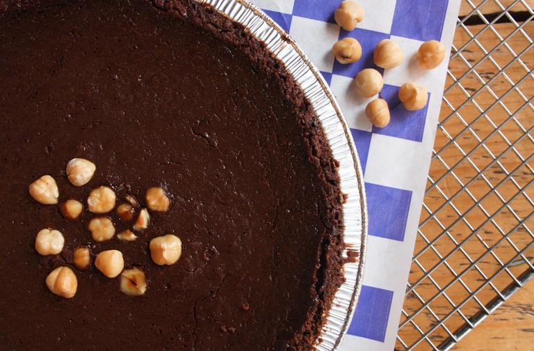 Chocolate Hazelnut Truffle with Chocolate Sea Salt Crust Pie