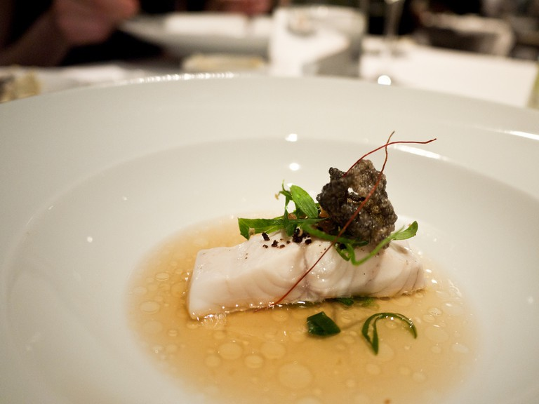 Steamed mulloway with blackbean, Tetsuya's