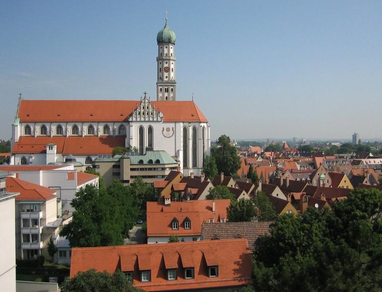 Augsburg Ulrichskirche mit Ulrichsviertel