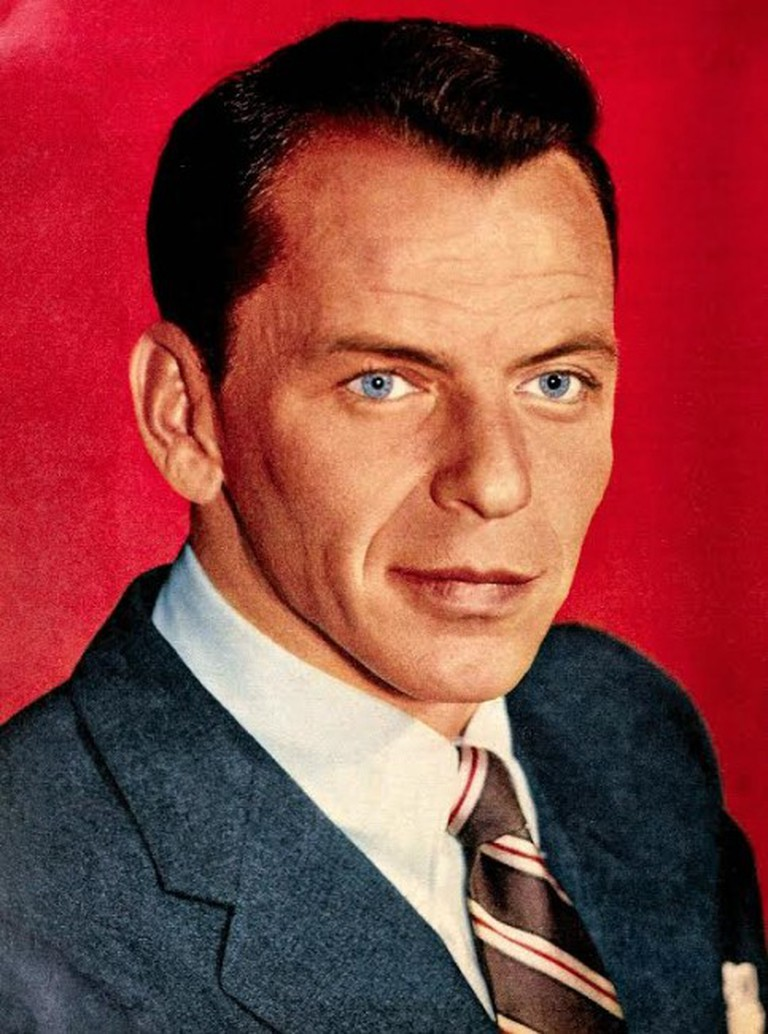 Photo of Frank Sinatra in 1957 from the publication TV-Radio Mirror.