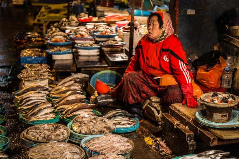 Old Woman at Jagalchi Fish Market