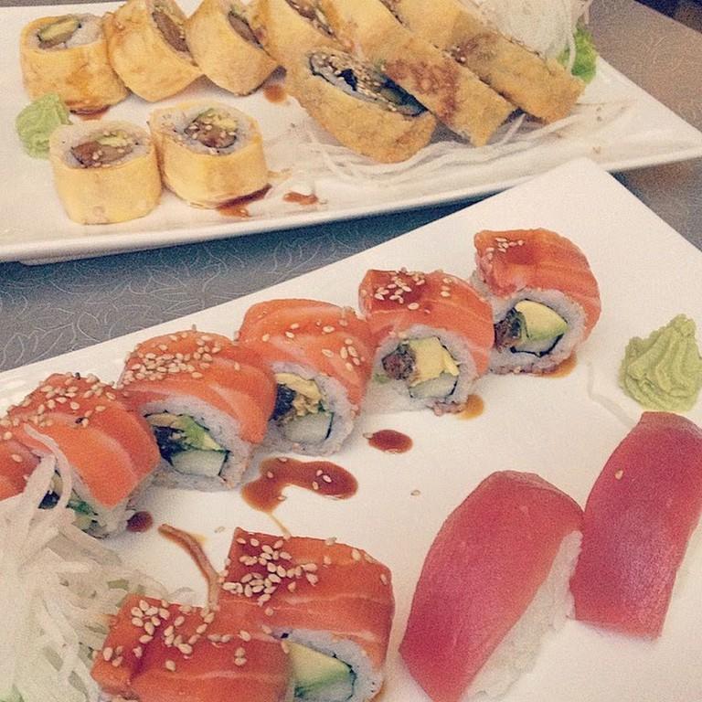 Sushi at Onsen