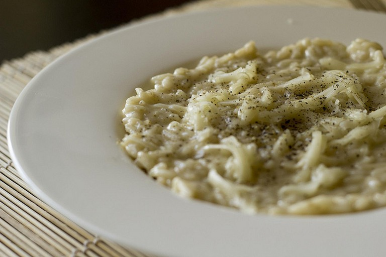 Risotto with Cheese and Pepper