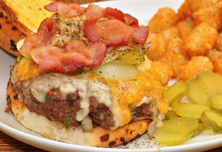Bacon Cheeseburger with Tater Tots