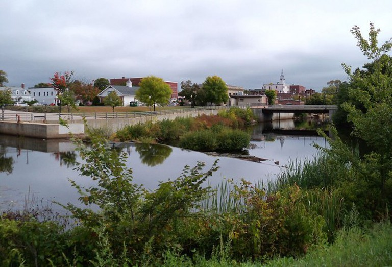 The Cocheco River and central Rochester