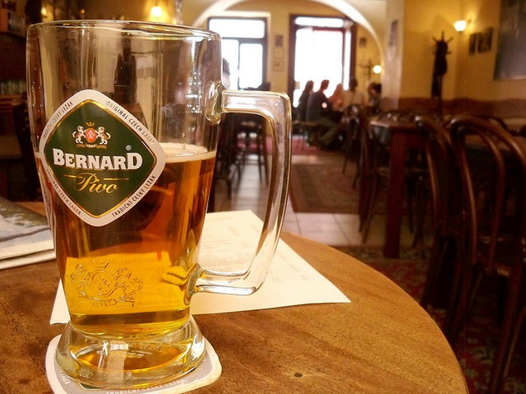 bernard beer, prague cafe