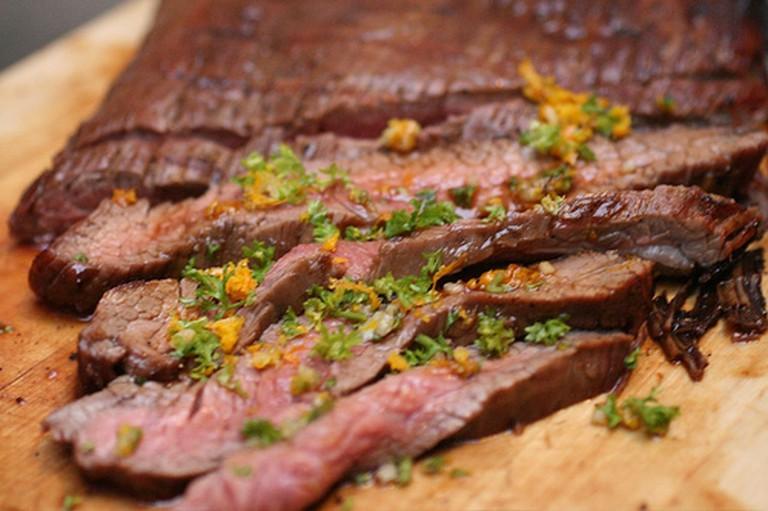 Flank Steak with Tamarind Glaze and Orange Gremolata